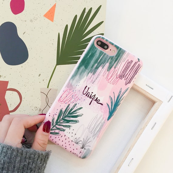 0b45bcb03832 IPhone XS Max Silicone Soft Phone Cover Green leaf Pattern