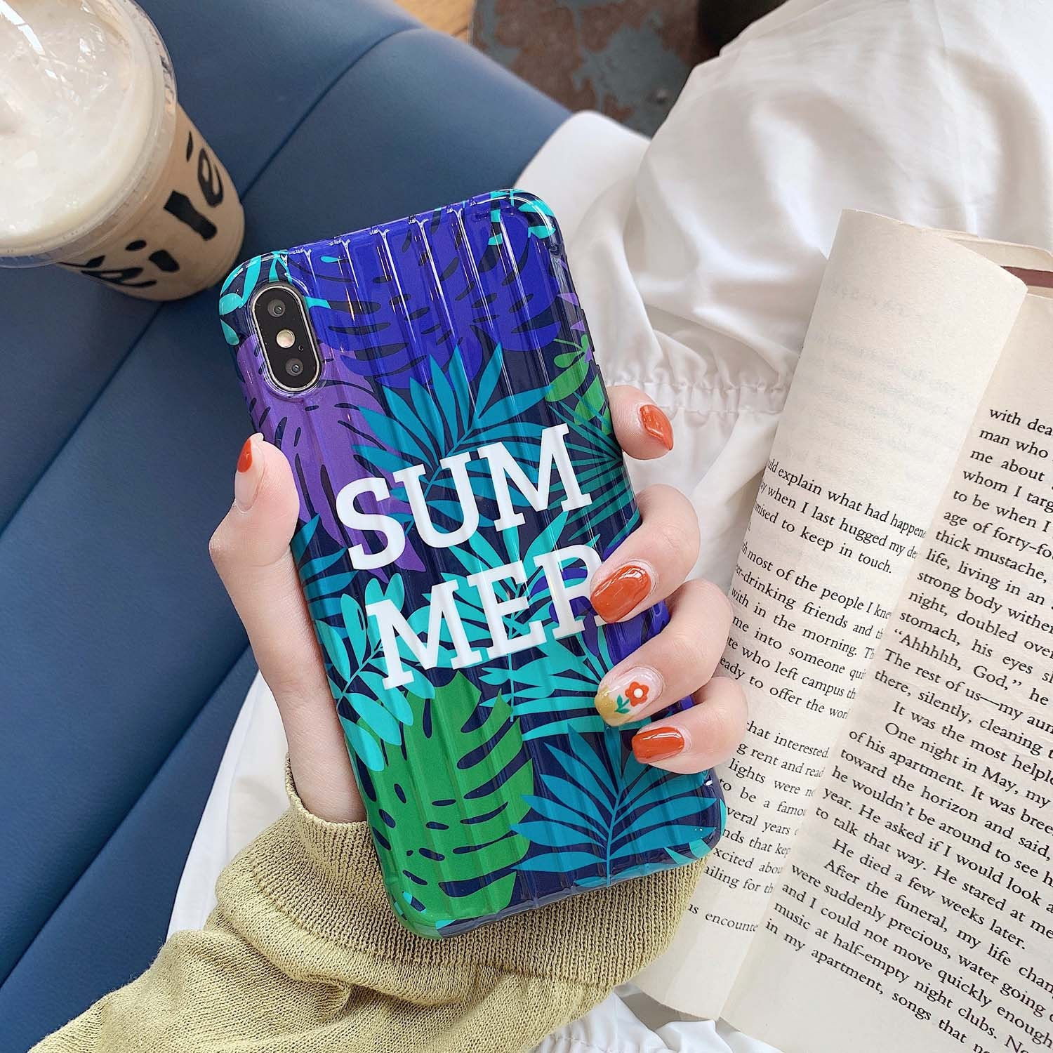 iPhone XR Case Cute iPhone XS Max Case iPhone 8 Plus Phone Case iPhone 6 7  Plus Case Gift for her Gift for Girlfriend Summer Banana Leaf
