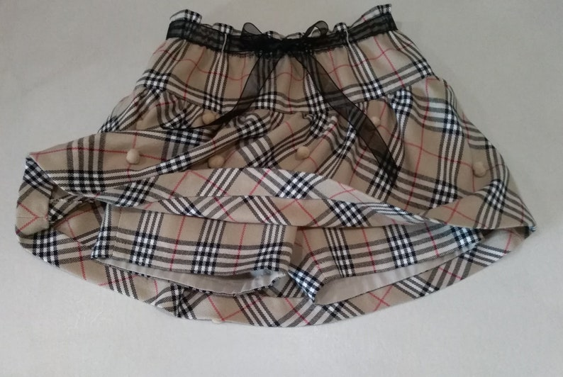 f8ef392171a7 Girl s skirt with a fantasy like Burberry wool mixed