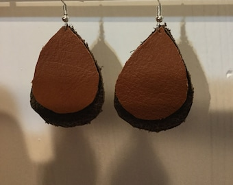 double teardrop earrings