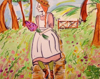 Anne of Green Gables - Hand Drawn Illustration