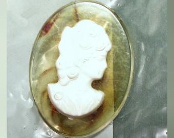 Plastic Applejuice Cameo Pin
