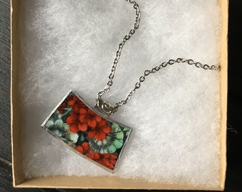 necklace from repurposed ceramic plate
