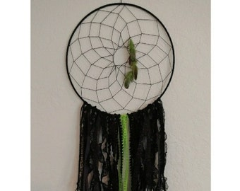 Black and Lime Dreamcatcher