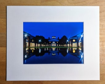 UVA Darden School of Business | Reflecting Pool | 5x7 Matted Photo | Darden Grad Gift | University of Virginia | Long Exposure Photography