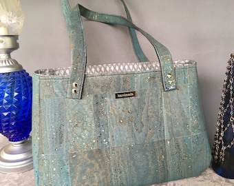 Baker Street Bag in Blue & Silver