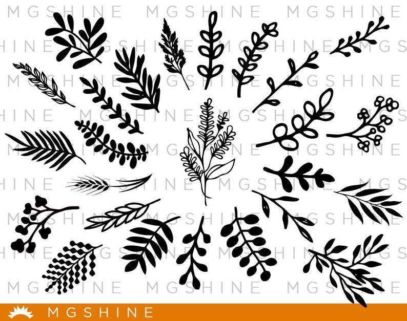 Leaves Svg Cutting Files For Cricut And Silhouette Cameo Etsy