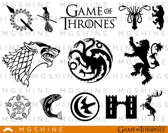 Game of thrones logo SVG cutting files for Cricut and Silhouette Cameo - GOT logo png clipart - Game of thrones dxf vector files - TS29