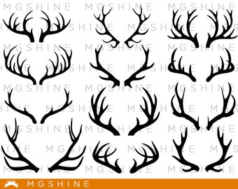 Deer's horns SVG cutting files for Cricut and Silhouette Cameo - Deer's horns png clipart - Deer's horns dxf vector files - TS6
