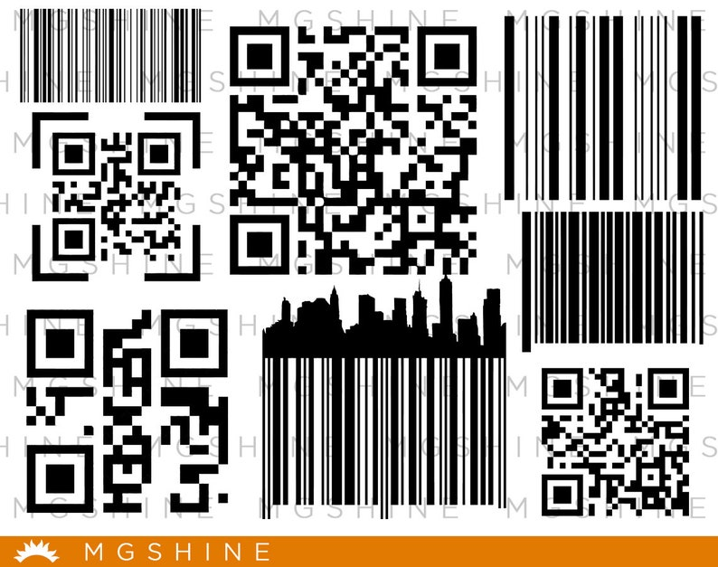Barcode SVG cutting files for Cricut and Silhouette Cameo - Barcode png  clipart - Barcode dxf vector files - TS157