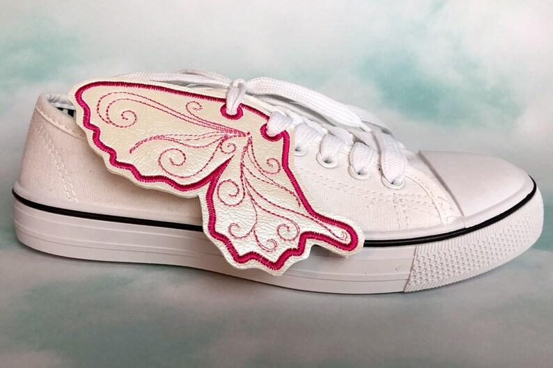 Pearl and Pink Angel Sneaker Wings