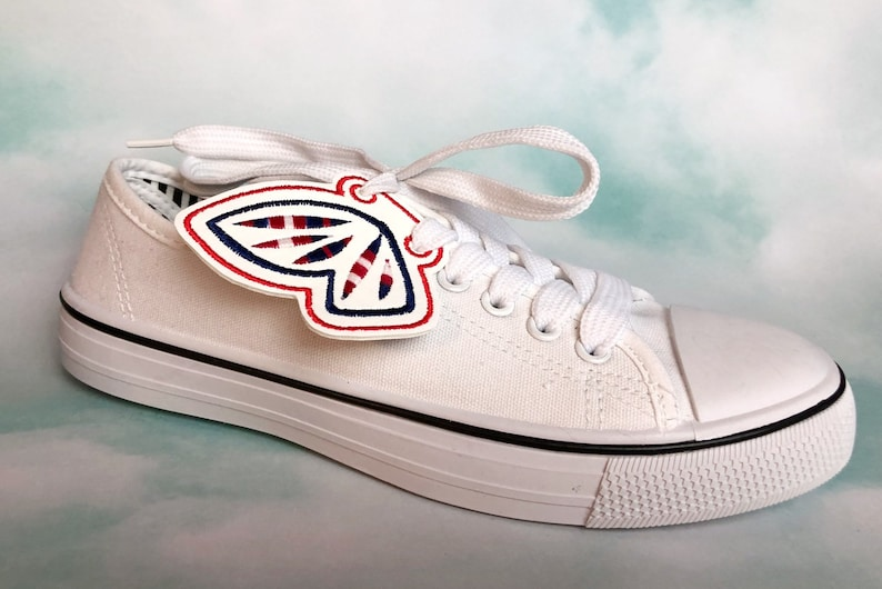 Red White and Blue Americana Angel Sneaker Wings