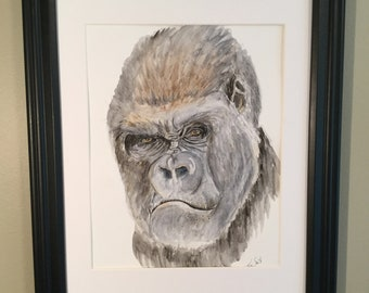 Watercolor Gorilla