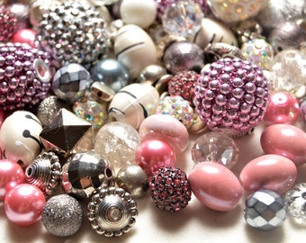"Lilah Ann Beads ""Gunmetal Glam"" Hand curated Bead Mix - Lots of Crystals, Metal and Bohos BM314"