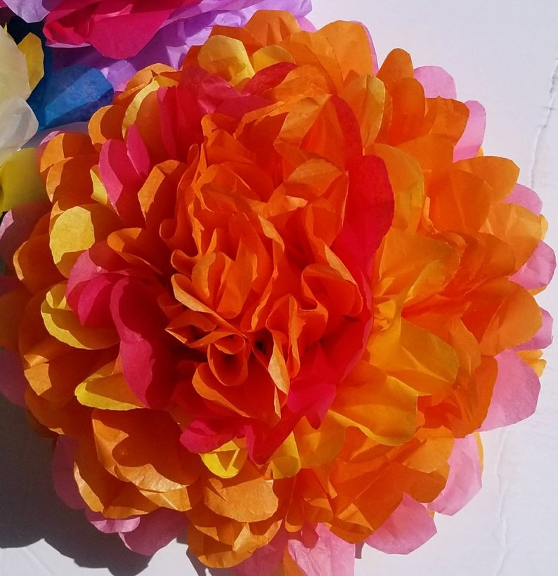 navidad flowers. party flowers tissue paper flowers fiesta 10 large fiesta flowers Mexican christmas fiesta tissue paper flowers