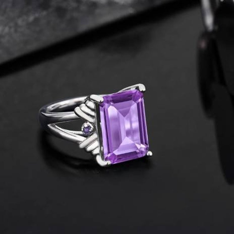Amethyst Gemstone solid 925 sterling silver women/'s /& Girls proposal promise anniversary engagement wedding ring Jewellery.