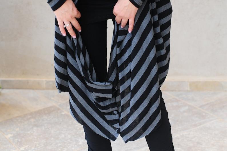Open Cardigan Long Cardigan Oversized Cardigan Cover Up Oversize Sweater Long Sleeve Cardigan Striped Women Cardigan Warm Sweater