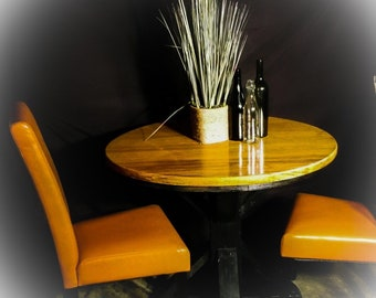 Ash wood round table