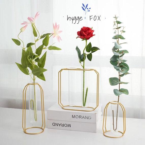Set Of 3 Modern Frame Glass Vases Glass Vase Terrarium Etsy