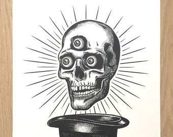 The Magicians Skull - Risograph Print