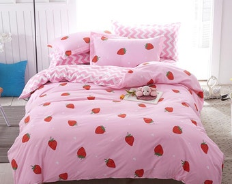 63cf9827d6 Bed Sets Fruit Bedding Duvet Cover and Pillowcases Single Twin Full King  Size