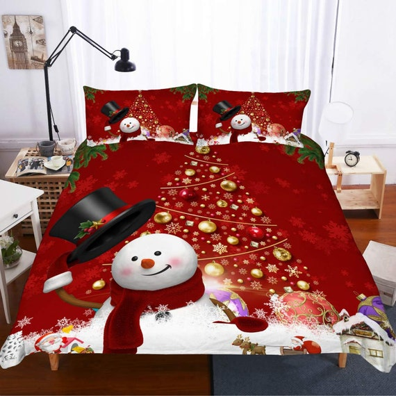 Christmas Bedding.Bed Sets Christmas Bedding Duvet Cover With Pillowcases Single Twin Double Full Queen King Size