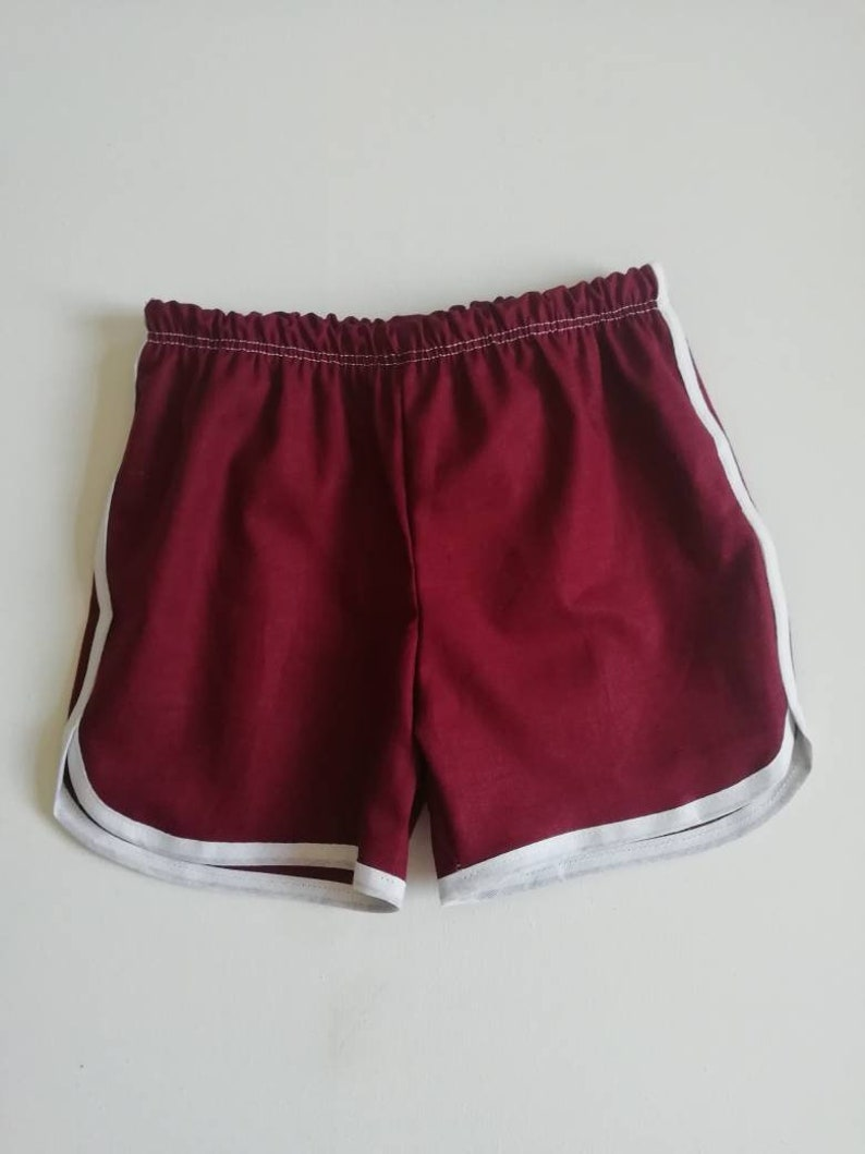 best service fe98a 67ab8 Red retro running shorts   Etsy