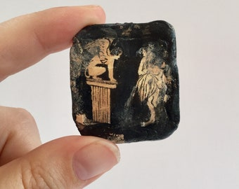 miniature ancient egyptian fresco from the tomb of nebamun etsy