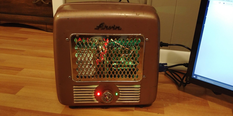 Steampunk Heater Computer Win 10 Amd Athlon Ii X3 425 27 Etsy