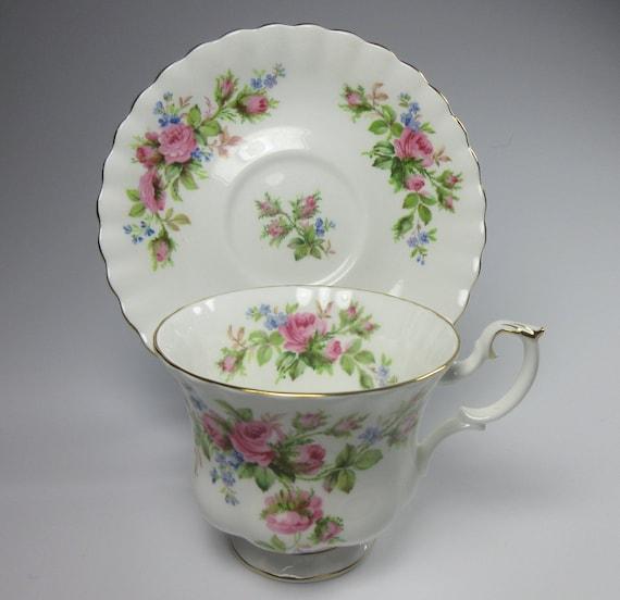 Royal Albert Servies Lavender Rose.Royal Albert Moss Rose Men S Teacup Royal Albert Moss Etsy