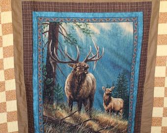 Elk Throw Quilt