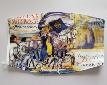 Misprinted 1913 Women's March On Washington - Votes For Women Circa 1913 - Women's Suffrage Face Mask Whoopsies - Mistakes - Still Lovable