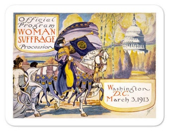 1913 Women's March On Washington Stickers - Votes For Women - Say It With Stickers
