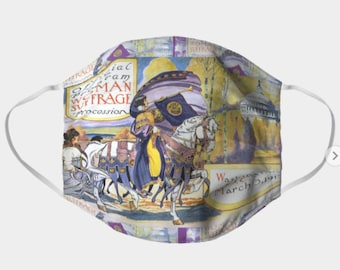 1913 Women's March On Washington - Votes For Women Pleated Double Layer Face Mask