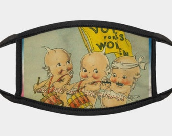 Kewpie Votes For Women Gold Red, White And Blue Stars Mask