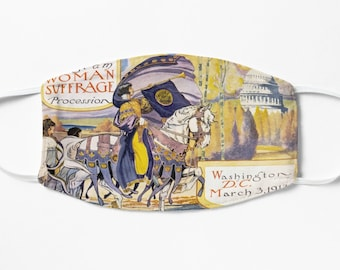 1913 Women's March On Washington - Votes For Women Circa 1913 - Women's Suffrage Face Mask