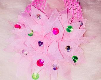 Dazzled flower baby headband