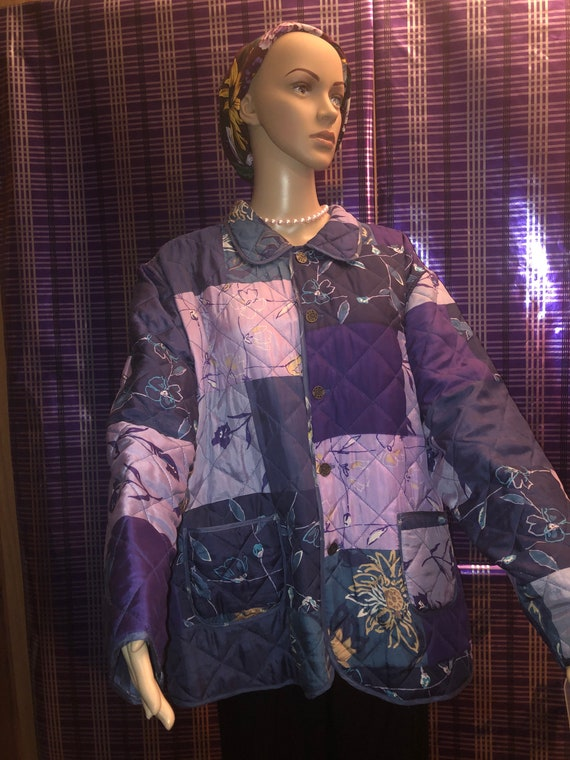 Silk Quilted Reversible Lavender Vintage Jacket