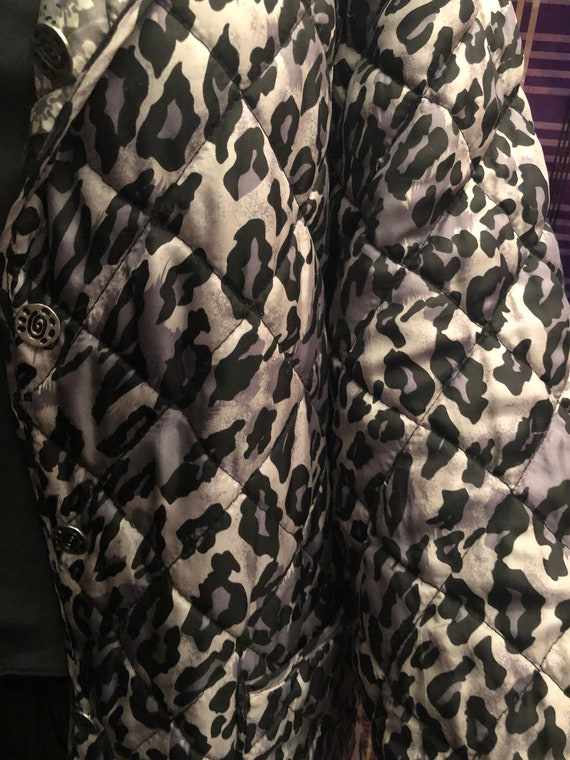 Silk Quilted Reversible Black and Gray  Vintage J… - image 5