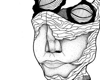 Floating Eyes Print