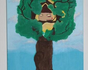 Treehouse / acrylic painting