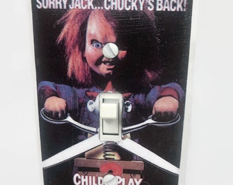 Child's Play 2 Chucky Doll Light Switchplate, Horror Movie Memorabilia, Light Switch Cover, 80s Movie, Housewarming Gift for Horror Fan