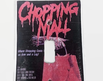 Chopping Mall Horror Movie Light Switchplate, 80s Movie, Horror Movie Memorabilia, Slasher Movie, Light Switch Cover, Housewarming Gift