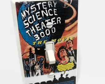 Mystery Science Theater 3000, MST3K, Light Switchplate, Horror Movie Memorabilia, Light Switch Cover, Housewarming Gift for Horror Fan