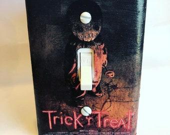 Trick r Treat Movie Poster Light Switchplate, Horror Movie Memorabilia, Light Switch Cover, Housewarming Gift for Horror Fan, Halloween Gift