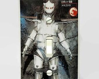Godzilla Mechazilla Light Switchplate, Monster Movie Memorabilia, Light Switch Cover, Toho Godzilla, Housewarming Gift, Godzilla Fan