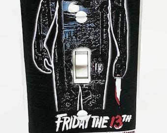 Friday the 13th Light Switchplate, Jason Voorhees, Horror Movie Memorabilia, Light Switch Cover, Housewarming Gift for Horror Fan Horror Lov