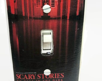 Scary Stories To Tell in the Dark Movie Light Switchplate, Horror Movie Memorabilia, Light Switch Cover, Housewarming Gift for Horror Fan