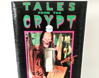 Tales From the Crypt Cryptkeeper Light Switchplate, Horror Movie Memorabilia, Light Switch Cover, Housewarming Gift for Horror Fan