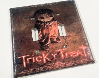 Trick r Treat Movie Poster Double Light Switchplate, Horror Decor, Light Switch Cover, Housewarming Gift for Horror Fan, Halloween Gift